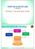 Bài giảng Thiết kế cơ sở dữ liệu: Chương 1 - ThS. Trần Quang Hải Bằng