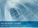Bài giảng Tin học đại cương: Microsoft word
