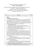 Đáp án đề thi tốt nghiệp cao đẳng nghề khóa 3 (2009-2012) - Nghề: May-Thiết kế thời trang - Môn thi: Lý thuyết chuyên môn nghề - Mã đề thi: DA MVTKTT-24