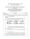 Đáp án đề thi tốt nghiệp cao đẳng nghề khóa 3 (2009-2012) - Nghề: Nguội sửa chữa máy công cụ - Môn thi: Lý thuyết chuyên môn nghề - Mã đề thi: DA SCMCC-LT01
