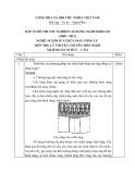 Đáp án đề thi tốt nghiệp cao đẳng nghề khóa 3 (2009-2012) - Nghề: Nguội sửa chữa máy công cụ - Môn thi: Lý thuyết chuyên môn nghề - Mã đề thi: DA SCMCC-LT14