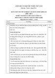 Đáp án đề thi tốt nghiệp cao đẳng nghề khóa 3 (2009-2012) - Nghề: Nguội sửa chữa máy công cụ - Môn thi: Lý thuyết chuyên môn nghề - Mã đề thi: DA SCMCC-LT16