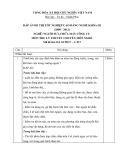 Đáp án đề thi tốt nghiệp cao đẳng nghề khóa 3 (2009-2012) - Nghề: Nguội sửa chữa máy công cụ - Môn thi: Lý thuyết chuyên môn nghề - Mã đề thi: DA SCMCC-LT17