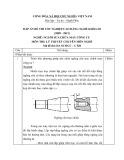 Đáp án đề thi tốt nghiệp cao đẳng nghề khóa 3 (2009-2012) - Nghề: Nguội sửa chữa máy công cụ - Môn thi: Lý thuyết chuyên môn nghề - Mã đề thi: DA SCMCC-LT20