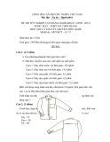 Đề thi tốt nghiệp cao đẳng nghề khóa 3 (2009-2012) - Nghề: May-Thiết kế thời trang - Môn thi: Lý thuyết chuyên môn nghề - Mã đề thi: MVTKTT–LT17