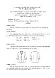 Đề thi tốt nghiệp cao đẳng nghề khóa 3 (2009-2012) - Nghề: May-Thiết kế thời trang - Môn thi: Lý thuyết chuyên môn nghề - Mã đề thi: MVTKTT–LT30