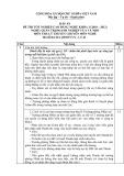 Đáp án đề thi tốt nghiệp cao đẳng nghề khóa 3 (2010-2012) - Nghề: Quản trị doanh nghiệp vừa và nhỏ - Môn thi: Lý thuyết chuyên môn nghề - Mã đề thi: ĐA QTDNVVN-LT42