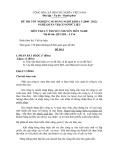 Đề thi tốt nghiệp cao đẳng nghề khóa 3 (2009-2012) - Nghề: Quản trị cơ sở dữ liệu - Môn thi: Lý thuyết chuyên môn nghề - Mã đề thi: QTCSDL-LT16 (kèm đáp án)