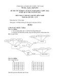 Đề thi tốt nghiệp cao đẳng nghề khóa 3 (2009-2012) - Nghề: Quản trị cơ sở dữ liệu - Môn thi: Lý thuyết chuyên môn nghề - Mã đề thi: QTCSDL-LT21 (kèm đáp án)