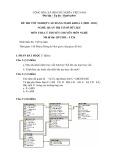 Đề thi tốt nghiệp cao đẳng nghề khóa 3 (2009-2012) - Nghề: Quản trị cơ sở dữ liệu - Môn thi: Lý thuyết chuyên môn nghề - Mã đề thi: QTCSDL-LT26 (kèm đáp án)