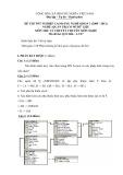 Đề thi tốt nghiệp cao đẳng nghề khóa 3 (2009-2012) - Nghề: Quản trị cơ sở dữ liệu - Môn thi: Lý thuyết chuyên môn nghề - Mã đề thi: QTCSDL-LT27 (kèm đáp án)