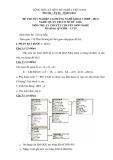 Đề thi tốt nghiệp cao đẳng nghề khóa 3 (2009-2012) - Nghề: Quản trị cơ sở dữ liệu - Môn thi: Lý thuyết chuyên môn nghề - Mã đề thi: QTCSDL-LT29 (kèm đáp án)