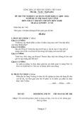 Đề thi tốt nghiệp cao đẳng nghề khóa 3 (2009-2012) - Nghề: Quản trị mạng máy tính - Môn thi: Lý thuyết chuyên môn nghề - Mã đề thi: QTMMT-LT05 (kèm đáp án)
