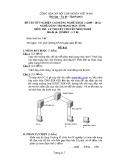 Đề thi tốt nghiệp cao đẳng nghề khóa 3 (2009-2012) - Nghề: Quản trị mạng máy tính - Môn thi: Lý thuyết chuyên môn nghề - Mã đề thi: QTMMT-LT06 (kèm đáp án)