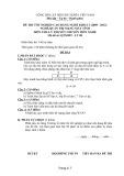 Đề thi tốt nghiệp cao đẳng nghề khóa 3 (2009-2012) - Nghề: Quản trị mạng máy tính - Môn thi: Lý thuyết chuyên môn nghề - Mã đề thi: QTMMT-LT08 (kèm đáp án)