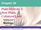 Lecture Biology: Chapter 29 - Niel Campbell, Jane Reece