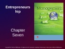 Lecture Management: Leading and collaborating in a competitive world - Chapter 7: Entrepreneurship