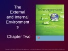 Lecture Management: Leading and collaborating in a competitive world - Chapter 2: The external and internal environments
