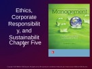 Lecture Management: Leading and collaborating in a competitive world - Chapter 5: Ethics, corporate responsibility, and sustainability