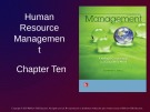 Lecture Management: Leading and collaborating in a competitive world - Chapter 10: Human resource management