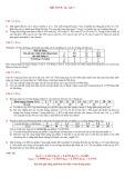 Đề thi Xác suất thống kê K14, CA1 - CA2 (năm học 2012)