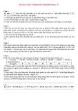 Đề thi Xác suất thống kê (Khóa 11, năm học 2009)