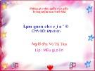 Giáo án Làm quen chữ cái a ă â (Chủ đề: Gia đình) - GV. Phạm Ngọc Bình