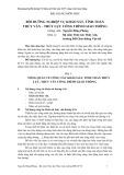 Bài giảng môn học Bồi dưỡng nghiệp vụ khảo sát, tính toán thủy văn - thủy lực công trình giao thông - Nguyễn Đăng Phóng