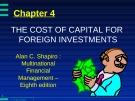 Bài giảng Đầu tư quốc tế: Chương 4 - Huỳnh Thị Thúy Giang