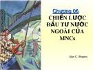 Bài giảng Đầu tư quốc tế: Chương 6 - Huỳnh Thị Thúy Giang