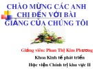 Bài giảng Kinh tế phát triển: Tăng trưởng kinh tế với công bằng xã hội - Phan Thị Kim Phương