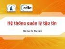 Bài giảng môn học Hệ điều hành: Hệ thống quản lý tệp tin (ĐH Khoa học tự nhiên)