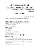 Đề thi Toán quốc tế khu vực Châu Á-Thái Bình Dương năm học 2009-2010