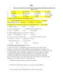 3 đề thi học kì 1 lớp 8 môn Tiếng Anh (Có đáp án)