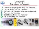 Bài giảng Linh kiện điện tử: Chương 4 - Nguyễn Văn Hân