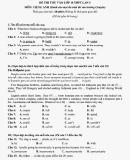 Đề thi thử vào lớp 10 THPT lần 3 môn Tiếng Anh - Trường THPT chuyên Sư phạm