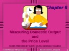 Lecture Macroeconomics - Chapter 6: Measuring domestic output and the price level