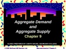 Lecture Macroeconomics - Chapter 9: Aggregate demand and aggregate supply