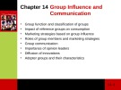 Lecture Consumer behaviour: Chapter 14 - Cathy Neal, Pascale Quester, Del Hawkins