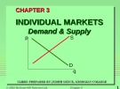 Lecture Macroeconomics - Chapter 3: Individual markets: Demand and supply