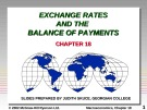 Lecture Macroeconomics - Chapter 18: Exchange rates and the balance of payments