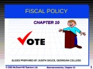 Lecture Macroeconomics - Chapter 10: Fiscal policy