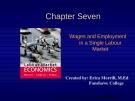 Lecture Labour market economics: Chapter 7 - Dwayne Benjamin, Morley Gunderson, Craig Riddell