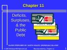 Lecture Macroeconomics - Chapter 11: Deficits, surpluses, and the public debt