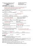Đề kiểm tra học kì 1 môn Hóa học 10 - Trường THPT Phan Ngọc Hiển (Đề số 01)