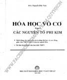 Ebook Hóa học vô cơ (Tập 1: Các nguyên tố phi kim): Phần 1