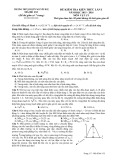 Đề kiểm tra kiến thức năm học 2015-2016 môn Vật lý lần 1 - Trường THPT chuyên Nguyễn Huệ (Mã đề 132)