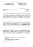Bộ đề thi THPT Quốc gia năm 2016 môn Tiếng Anh số 3
