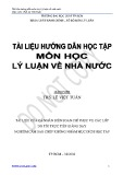 Bài giảng tài liệu học môn học Lý luận về nhà nước - Th.S Lê Việt Tuấn