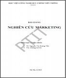 Bài giảng Nghiên cứu marketing: Phần 1